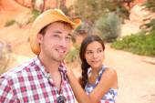Couple in western USA nature — Stock Photo