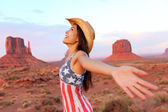 Cowgirl in Monument Valley — Stock Photo