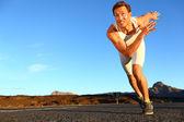 Sportowcem w treningu na zewnątrz — Zdjęcie stockowe