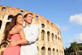 Couple in Rome by Coliseum — Stock Photo