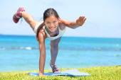 Woman training outdoors — Stock Photo