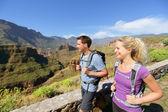 Couple hiking on Gran Canaria — Stock Photo