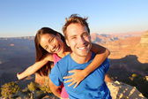 Couple hiking in Grand Canyon — Stock Photo