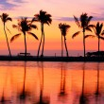 Paradise beach sunset — Stock Photo