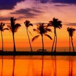 Beach paradise sunset — Stock Photo