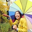 Woman excited under rain — Stock Photo #54891917