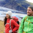 Travel people near lake of Fjallsarlon — Stock Photo #54892443