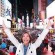 Excited woman in New York — Stock Photo #54892655