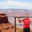 Fitness athlete training in Grand Canyon — Stock Photo #54893247