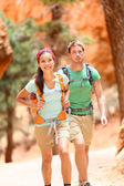 Hikers in Bryce Canyon walking — Stock Photo