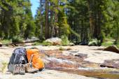 Hiking backpacks — Stock Photo