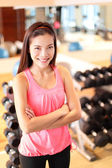 Woman in fitness center — Stock Photo