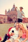 Couple in Venice on Gondola — Stock Photo