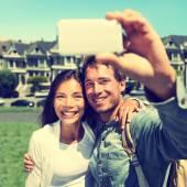Couple taking Selfie in San Francisco — Stock Photo