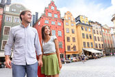 Couple in Stockholm — Stock Photo