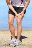 Runner sprain thigh muscles — Stock Photo