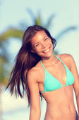 Woman wearing Bikini on vacation — Stock Photo