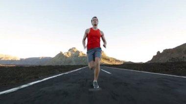 Running athlete — Stock Video