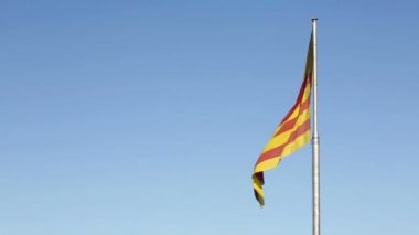 Catalan flag — Stock Video