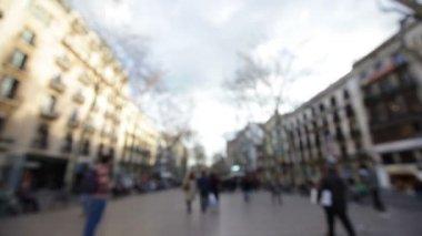 Barcelona, La Rambla — ストックビデオ
