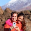 Couple hiking in beautiful nature — Stock Photo #55353631