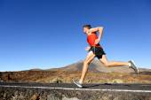 Male runner training outdoors — Stock Photo