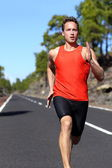 Man sprinting fast at speed — Stock Photo