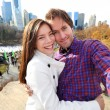 Dating young couple in Central Park — Stock Photo #62143395