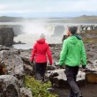Hiking people in Iceland — Stock Photo #62143433