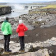 Iceland nature landscape with people — Stock Photo #62143903