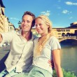 Selfie photo by couple in Florence — Stock fotografie #62143955