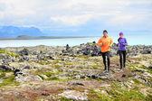Runners on cross country trail run — Stock Photo