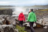 Hiking people in Iceland — Foto de Stock