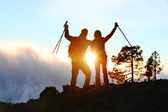 Achievement hiking people — Stock Photo