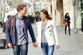 Professionals couple walking — Stock Photo
