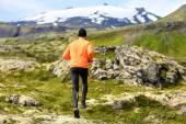 Male jogging outdoors — Stock Photo