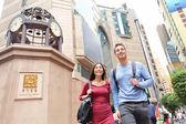 People walking in Causeway Bay — Stock Photo