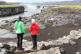 Iceland nature landscape with people — Stok fotoğraf