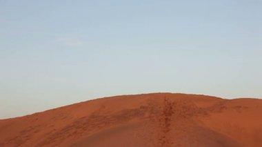 Runner in desert — 图库视频影像