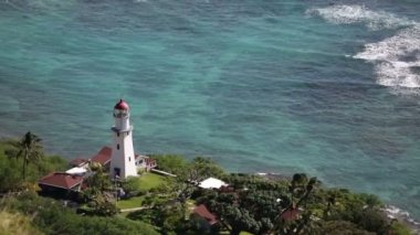 Diamond Head Lighthouse — Stock Video