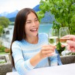 People having fun drinking wine — Stock Photo #72653211