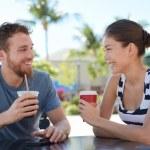 Couple having fun drinking coffee — Stock Photo #72653791