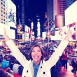 Excited woman in New York City — Stock Photo #72654165