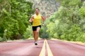 Running man runner sprinting for fitness — Stock Photo