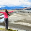 Woman enjoying view of Iceland — 图库照片 #73836793