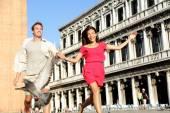 Couple in love having fun in Venice — Stock Photo