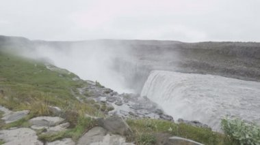 Waterfall Dettifoss on Iceland — Stock Video