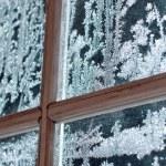 Frosty window ornament — Stock Photo #61813157