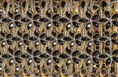 Metallic background of jewels — Stock Photo