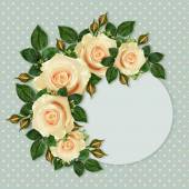 Rose flowers frame — Stock Photo